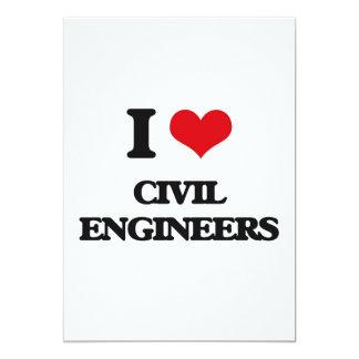 I love Civil Engineers 5x7 Paper Invitation Card