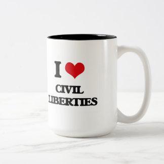 I love Civil Liberties Mugs