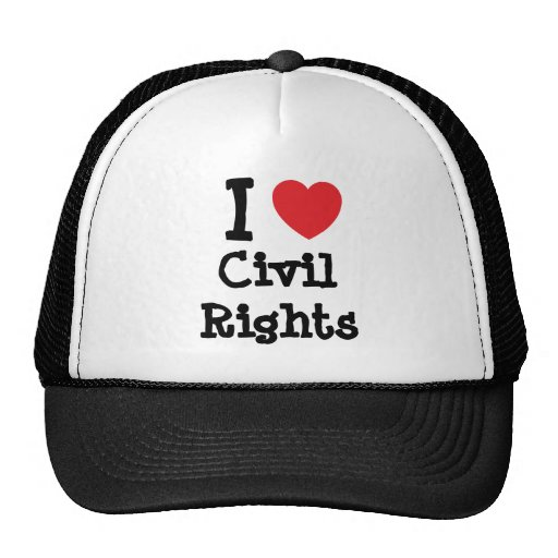 I love Civil Rights heart custom personalized Mesh Hats