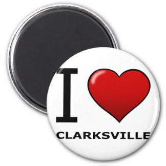 I LOVE CLARKSVILLE,TN - TENNESSEE MAGNET