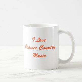 I Love Classic Country Music Mug