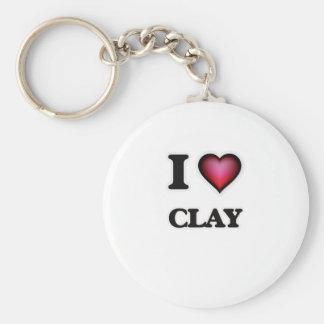 I love Clay Key Ring
