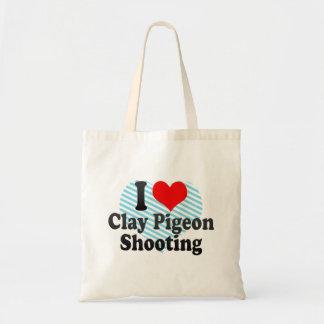 I love Clay Pigeon Shooting Tote Bags