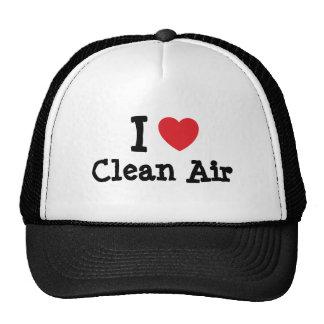 I love Clean Air heart custom personalized Hat