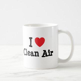 I love Clean Air heart custom personalized Coffee Mug