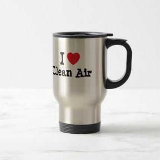 I love Clean Air heart custom personalized Mug