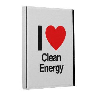 i love clean energy iPad case