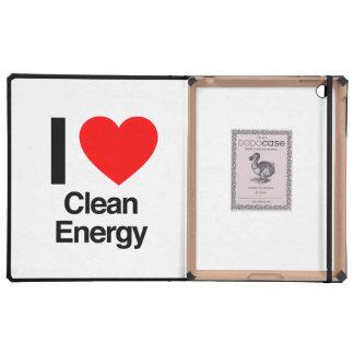 i love clean energy iPad folio case