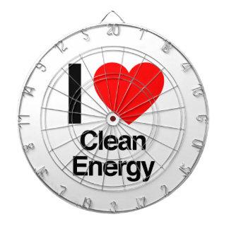 i love clean energy dart board
