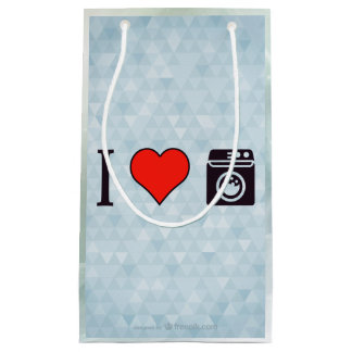 I Love Clean Laundry Small Gift Bag