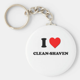 I love Clean-Shaven Basic Round Button Key Ring