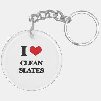 I love Clean Slates Acrylic Keychain