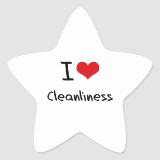 I love Cleanliness Star Sticker