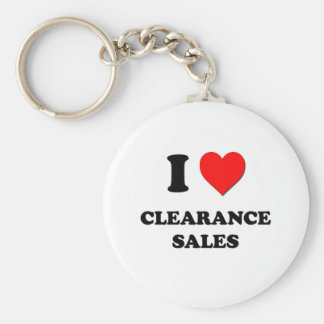 I love Clearance Sales Basic Round Button Key Ring