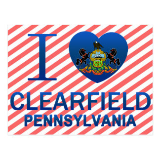 I Love Clearfield, PA Postcard