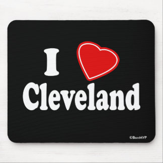I Love Cleveland Mouse Pad
