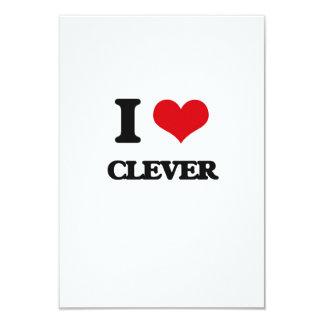 "I love Clever 3.5"" X 5"" Invitation Card"