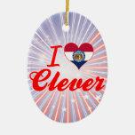 I Love Clever, Missouri Christmas Ornaments