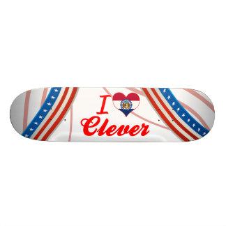 I Love Clever, Missouri Skateboard Deck