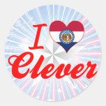 I Love Clever, Missouri Sticker