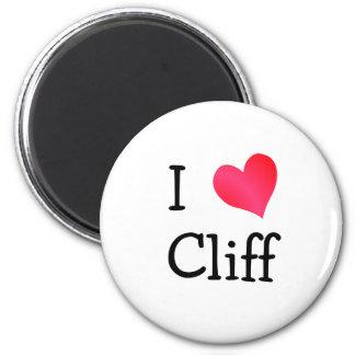 I Love Cliff 6 Cm Round Magnet