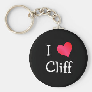I Love Cliff Basic Round Button Key Ring