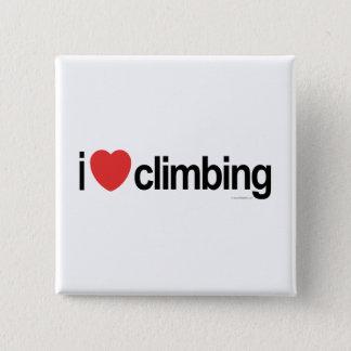 I Love Climbing 15 Cm Square Badge