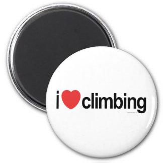I Love Climbing 6 Cm Round Magnet