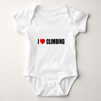I Love Climbing Baby Bodysuit