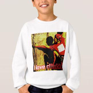 I Love Climbing Flagging Sweatshirt