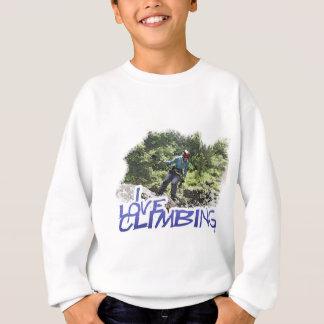 I Love Climbing Hang Dog Sweatshirt