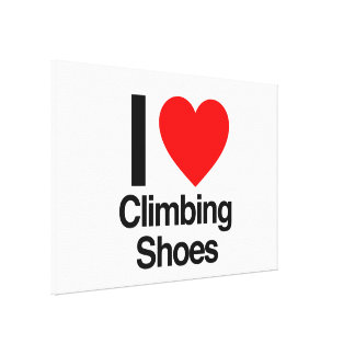 i love climbing shoes canvas prints