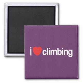 I Love Climbing Square Magnet
