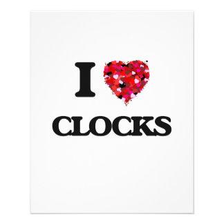 I love Clocks 11.5 Cm X 14 Cm Flyer