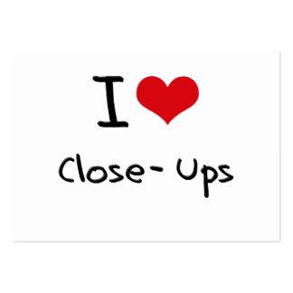 I love Close-Ups Business Card