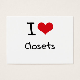 I love Closets Business Card