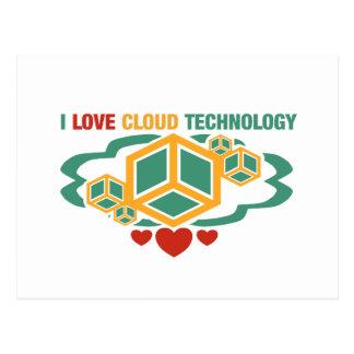 I Love Cloud Technology Postcard