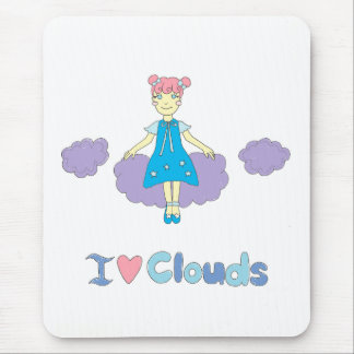 I Love Clouds Mouse Pad