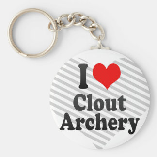 I love Clout Archery Basic Round Button Key Ring