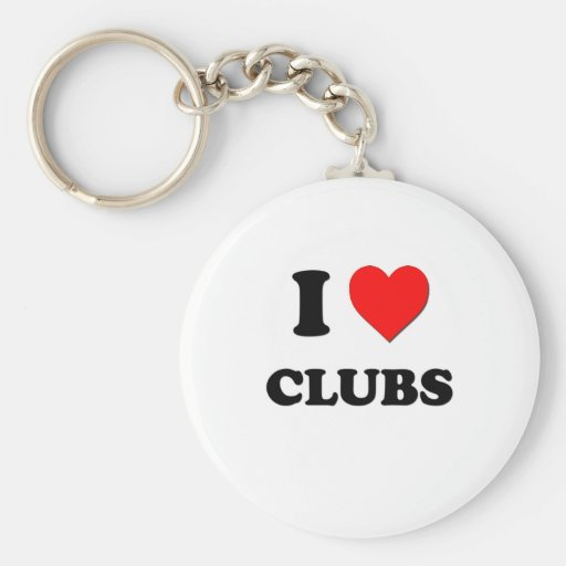I love Clubs Keychains