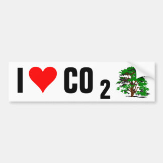 I Love CO2 Bumper Sticker