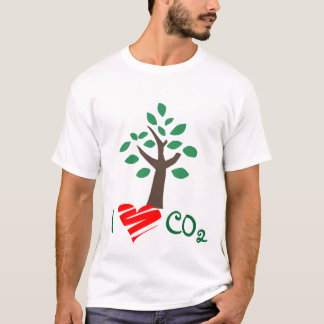 I Love CO2 carbon dioxide tree shirt global warm
