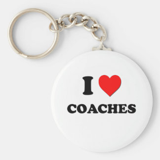 I love Coaches Basic Round Button Key Ring