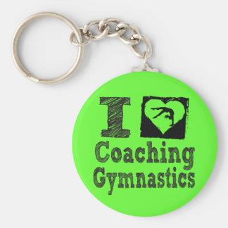 I Love Coaching Gymnastics Key Ring