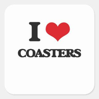I love Coasters Square Sticker