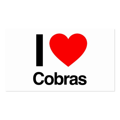 i love cobras business card template