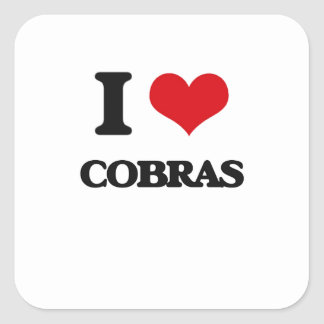 I love Cobras Square Sticker