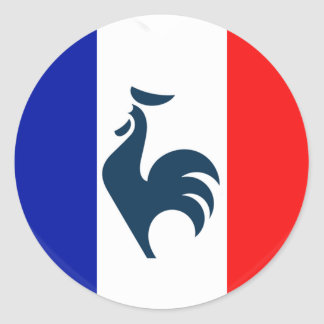 I love cock France flag Round Sticker