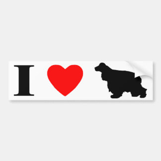 I Love Cocker Spaniels Bumper Sticker