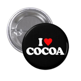 I LOVE COCOA BUTTONS